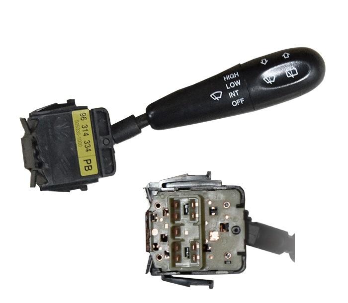 Maneta stergator Daewoo Matiz 1998-2008, cu functie stergere si spalare fata/spate, comutator cu interval de stergere, dreapta