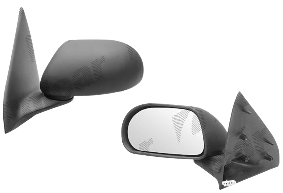 Oglinda exterioara Fiat Bravo 06.1995-10.2001 partea stanga View Max crom plana carcasa neagra reglare electrica cu incalzire