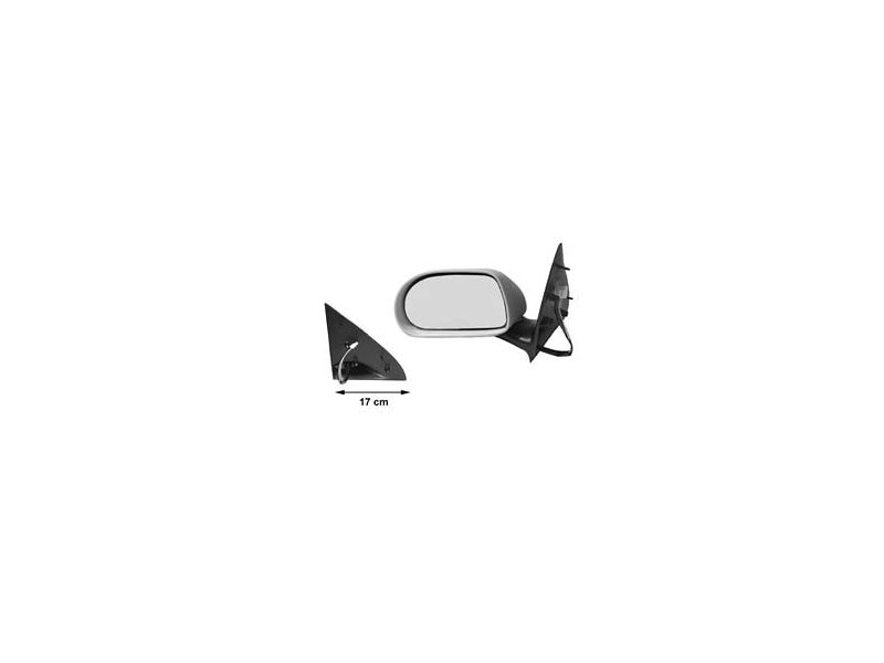 Oglinda exterioara Brava (182), 06.1995-10.2001, Fiat Marea (185), 01.1996-06.2002, Stanga, Crom, electrica, carcasa neagra, Plana, View Max