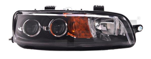 Far Fiat Punto 2 07.1999-07.2003 Depo, partea Dreapta tip bec H1+H1+H3 electric/manual reflector negru