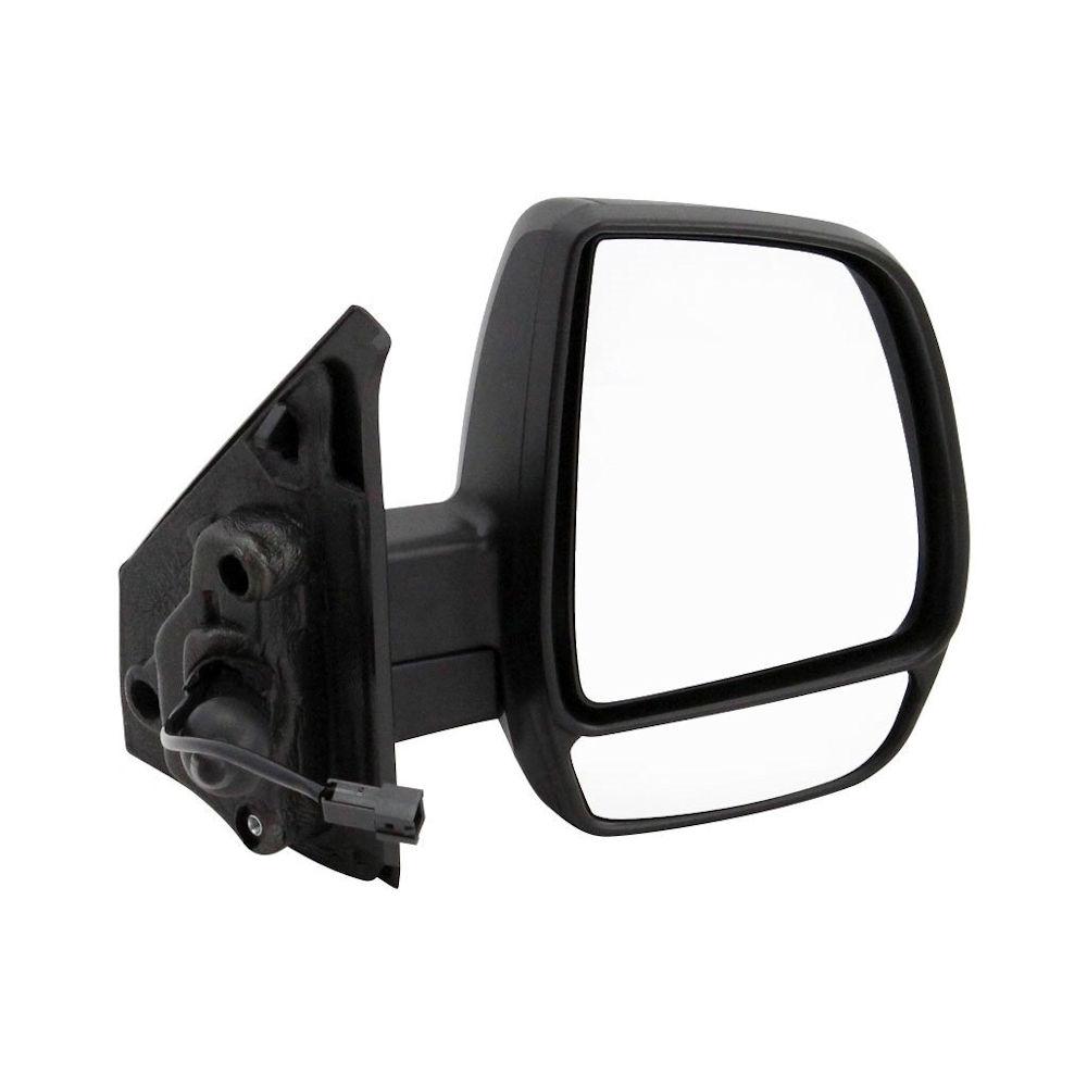 Oglinda exterioara Fiat Doblo (152/263) 01.2010- CARGO partea dreapta View Max crom impartit carcasa neagra reglare manuala prin cablu fara incalzire