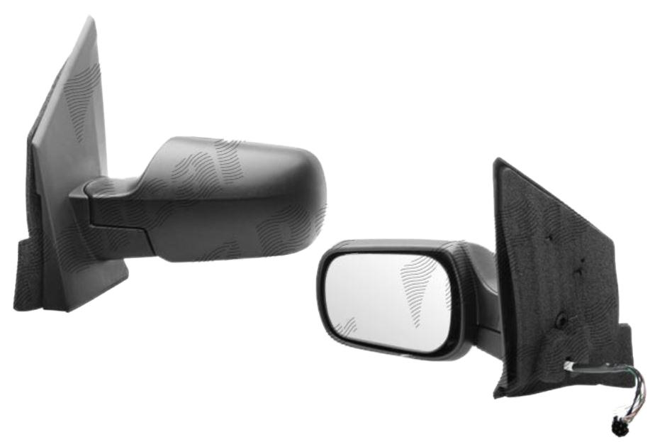Oglinda exterioara Ford Fiesta (Jhs) 01.2002-09.2008 partea stanga View Max crom convex carcasa neagra reglare electrica cu incalzire