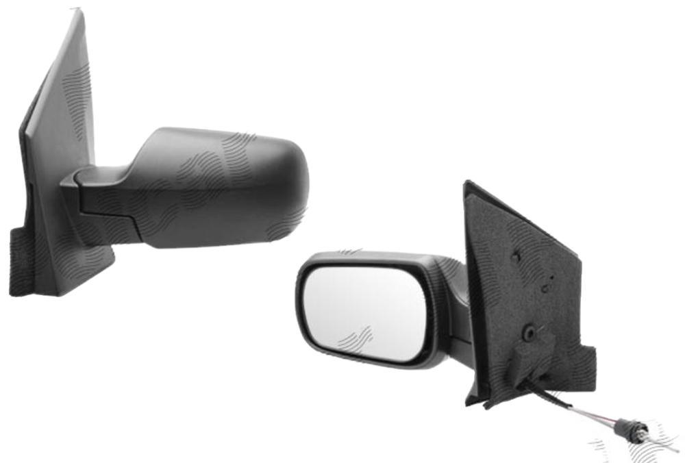 Oglinda exterioara Ford Fiesta (Jhs) 01.2002-09.2008 partea dreapta View Max crom convex carcasa neagra reglare manuala prin cablu fara incalzire