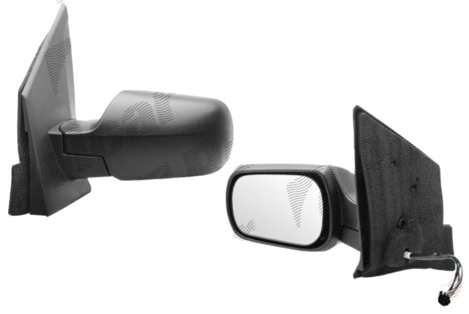 Oglinda exterioara Ford Fiesta (Jhs) 01.2002-09.2008 partea dreapta View Max crom convex carcasa neagra reglare electrica cu incalzire