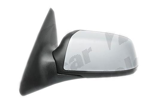 Oglinda exterioara Ford Mondeo (B4y/B5y/Bwy), 10.2003-03.2007, partea Dreapta, culoare sticla crom, sticla convexa, cu carcasa grunduita, cu incalzire, ajustare electrica