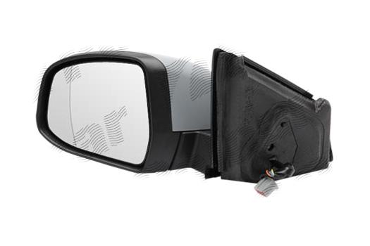 Oglinda exterioara Ford Mondeo (Ba7), 03.2007-09.2010, partea Stanga, culoare sticla crom, sticla asferica, cu carcasa grunduita, cu incalzire, ajustare electrica