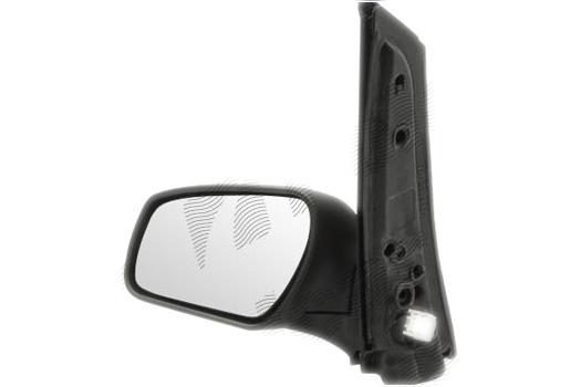 Oglinda exterioara Ford C-Max (C214), 06.2007-12.2010, Ford Focus C-Max (C214), 10.2003-06.2007, partea Dreapta, culoare sticla crom, sticla convexa, cu carcasa grunduita, cu incalzire, ajustare electrica