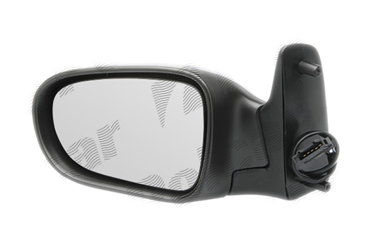 Oglinda exterioara Ford Galaxy (Wgr), 05.1995-03.2000, Seat Alhambra (7v8/7v9), 04.1996-01.2001, Vw Sharan (7m), 05.1995-04.2000, partea Stanga, culoare sticla crom, sticla convexa, cu carcasa grunduita, cu incalzire, ajustare electrica