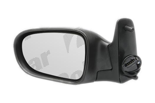 Oglinda exterioara Ford Galaxy (Wgr), 05.1995-03.2000, Seat Alhambra (7v8/7v9), 04.1996-01.2001, Vw Sharan (7m), 05.1995-04.2000, partea Dreapta, culoare sticla crom, sticla convexa, cu carcasa grunduita, cu incalzire, ajustare electrica