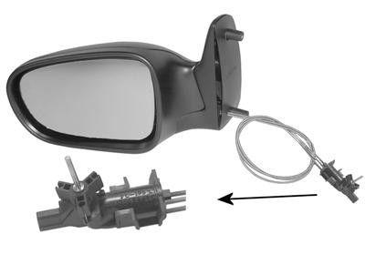 Oglinda exterioara Ford Galaxy 05.1995-04.2006 partea stanga View Max crom convex carcasa neagra reglare manuala prin cablu fara incalzire