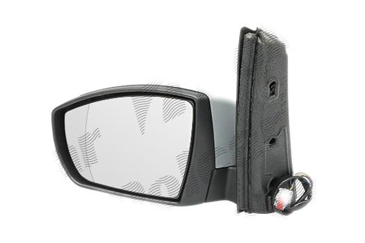 Oglinda exterioara Ford C-Max, 11.2010-, partea Dreapta, culoare sticla crom, sticla convexa, cu carcasa grunduita, cu incalzire, ajustare electrica