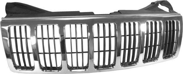 Grila radiator Jeep Grand Cherokee (Wh), 2008-07.2010, crom/negru