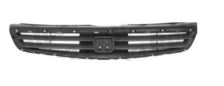 Grila radiator Honda Civic 3-Usi Sedan si Coupe (Jp), 01.1999-07.2001, crom/negru, fara rama