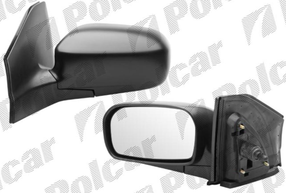 Oglinda exterioara Honda Civic 3-Usi Hatchback (Eu) 02.2001-12.2003 partea dreapta View Max crom convex grunduita partial reglare manuala prin cablu fara incalzire