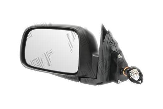 Oglinda exterioara Honda Crv (Rd), 01.2002-12.2004, Honda Crv (Rd), 01.2005-10.2006, partea Stanga, culoare sticla crom, sticla convexa, cu carcasa neagra, ajustare electrica