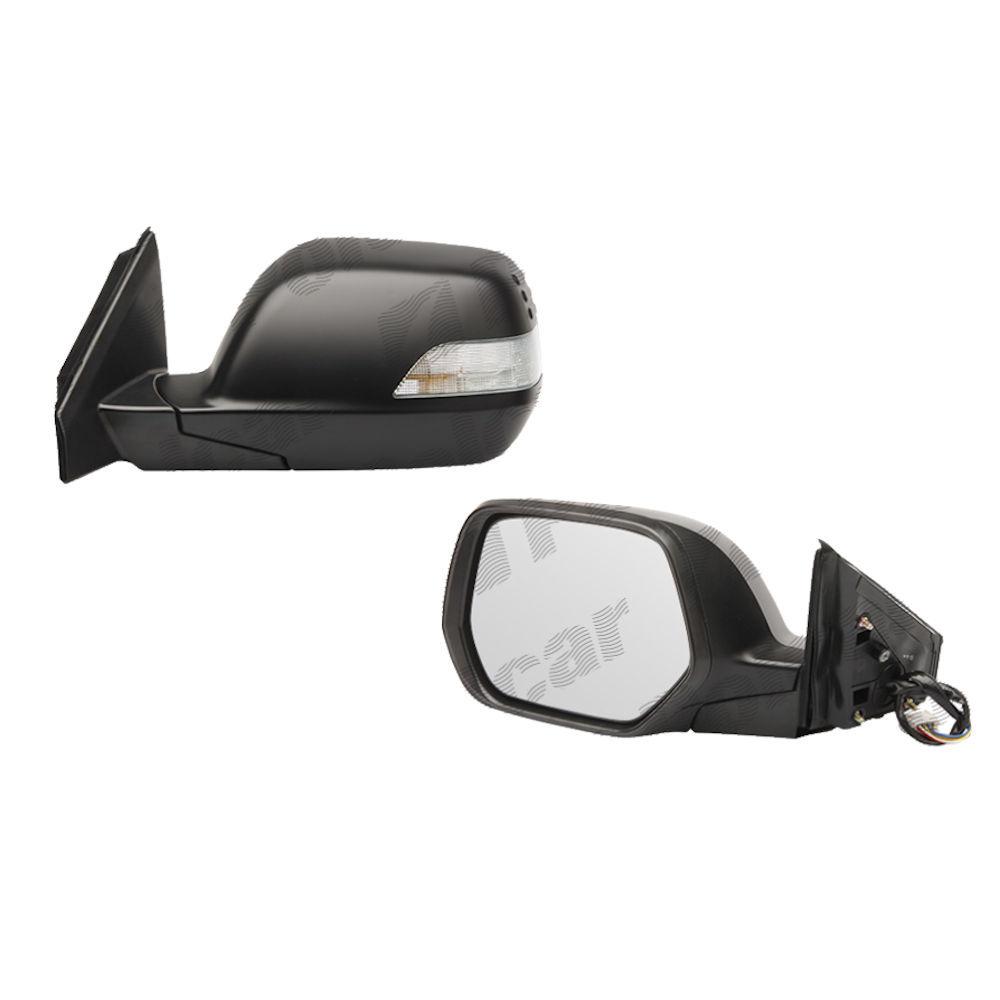 Oglinda exterioara Honda CRV (Re), 2006-12.2012, Stanga, Crom, electrica, Fara incalzire, carcasa neagra, Convex, View Max, cu semnalizare