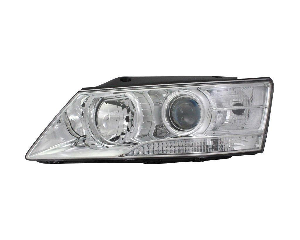 Far Hyundai Sonata (Nf) 04.2008-05.2010, Stanga, tip bec H1+H7, reglare electrica, ECE, fara motoras, culoare argintiu, TYC