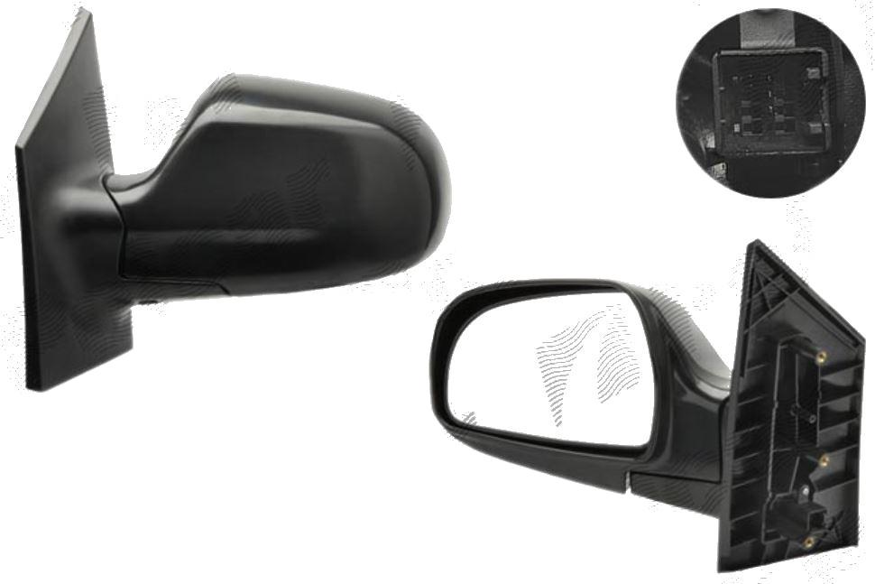 Oglinda exterioara Hyundai Matrix (Fc) 01.2001-2010 partea stanga View Max convex carcasa neagra reglare electrica fara incalzire, cu 3 pini