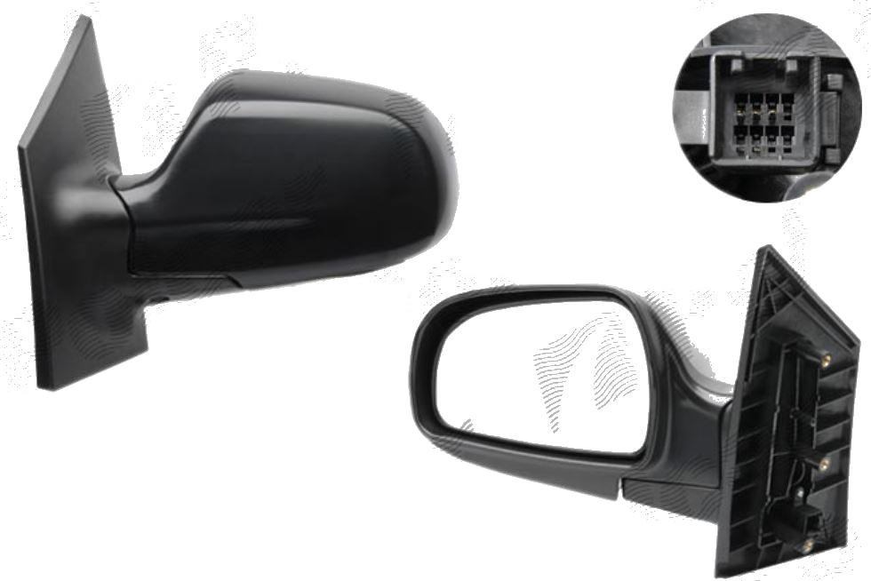Oglinda exterioara Hyundai Matrix (Fc) 01.2001-2010 partea dreapta View Max convex carcasa neagra reglare electrica cu incalzire, cu 5 pini