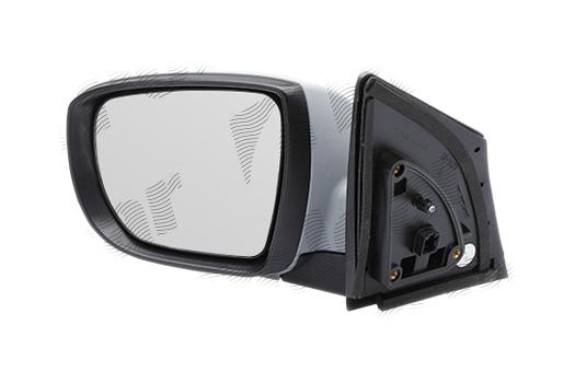 Oglinda exterioara Hyundai Ix35 (Lm), 10.2009-, Hyundai Tucson (Lm), 10.2009-, partea Stanga, culoare sticla crom, sticla convexa, cu carcasa grunduita, cu incalzire, ajustare electrica