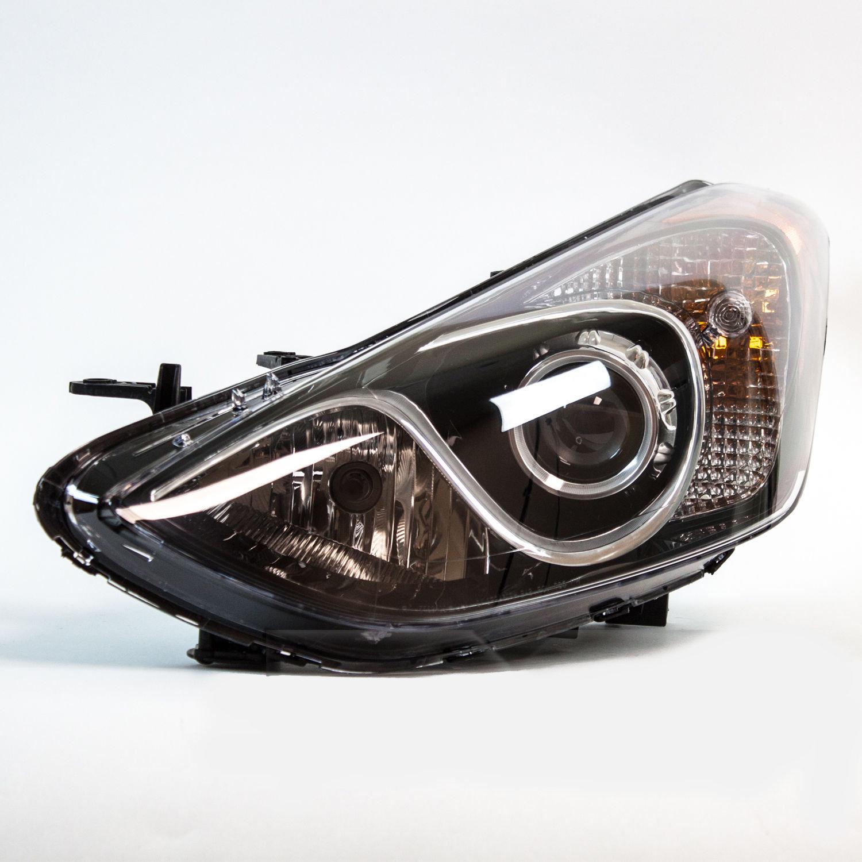 Far Hyundai I30 (Gd) 03.2012-, Stanga, tip bec H7+H7, cu lumini pentru timp de zi, cu motoras, ECE, Depo