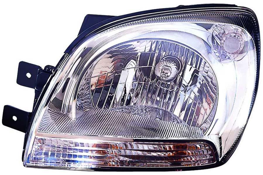 Far Kia Sportage 3 (JE) 09.2004-10.2010 DEPO partea Stanga, tip bec H4 manual/electric semnalizator alb, reglaj electric, pt model produs KOREA