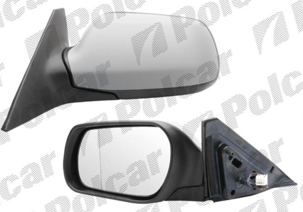 Oglinda exterioara Mazda 6 (Gg/Gy) 06.2002-11.2007 partea stanga View Max crom convex carcasa prevopsita grunduita reglare electrica cu incalzire