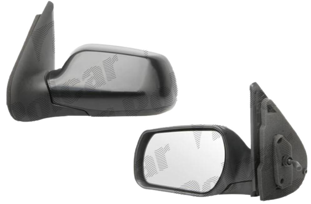 Oglinda exterioara Mazda 2 (Dy) 04.2003-10.2007 partea dreapta View Max crom convex carcasa neagra reglare parghie fara incalzire