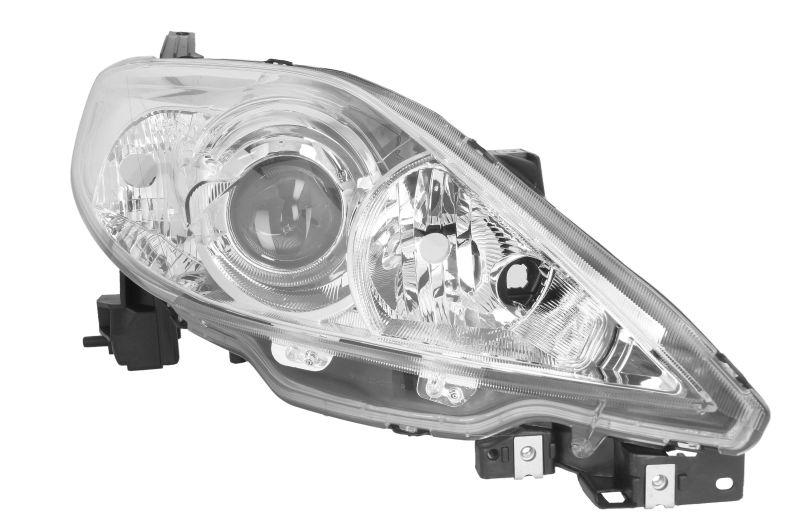 Far Mazda 5 (CR19) 04.2005-08.2007 DEPO dreapta fata, tip bec H7+HB3, reglaj electric, culoare argintiu