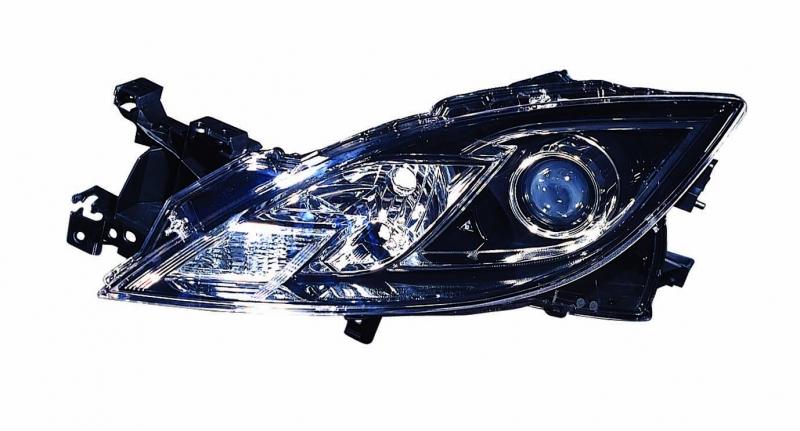 Far Mazda 6 (Gh), 11.07-10.2009, Electric, tip bec H11+H9, fara motoras, fara cadru, omologare ECE, Stanga, marca TYC