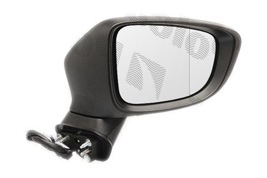Oglinda exterioara Mazda 6 (Gj), 11.2012-, partea Dreapta, culoare sticla crom, sticla convexa, cu carcasa grunduita, cu incalzire, ajustare electrica