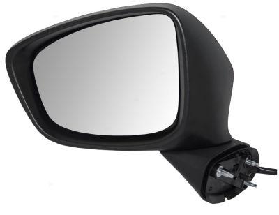 Oglinda exterioara Mazda Cx-5 (Ke), 03.2012-, partea Stanga, culoare sticla crom, sticla asferica, cu carcasa grunduita, cu incalzire, ajustare electrica