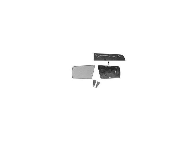 Geam oglinda Mercedes Clasa C (W202), 1993-2001 Clasa E (W210), 06.1995-03.1999, Clasa S (W140) 03.1995-09.1998, cu 2 pini, Dreapta, Albastra, Cu incalzire, Asferica