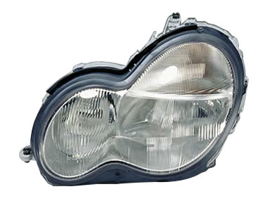 Far Mercedes Clasa C (W203) 05.2000-03.2004 AL Automotive lighting partea Stanga, tip bec H7+H7, reglaj pneumatic