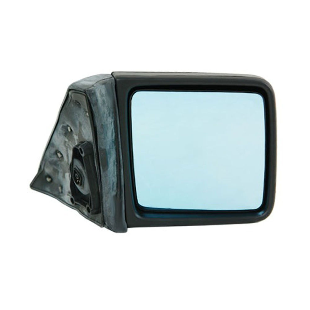 Oglinda exterioara Mercedes 190 (W201), 10.1982-08.1993, W124/Clasa E(Sedan/Combi) 12.1984-06.1996, Dreapta, Albastra, electrica, Fara incalzire, carcasa neagra, Convex, View Max