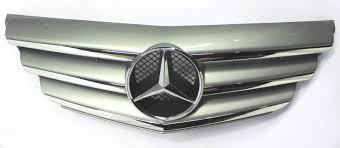 Grila radiator Mercedes Clasa A (W169), 05.2008-06.2012, crom/gri