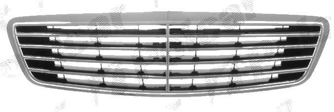 Grila radiator Mercedes Clasa S (W220) 10.1998-2002, crom