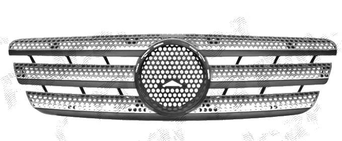 Grila radiator Mercedes Clasa ML (W163), 02.1998-07.2005, gri/negru