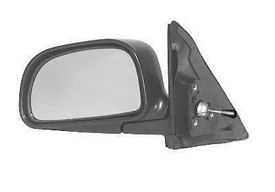Oglinda exterioara Mitsubishi Colt (Cjo), 09.1995-05.2004, Lancer (Cjo), 09.1995-09.2003, Lancer Sedan (Ck), 09.1997-03.2001, Stanga, manuala, prin cablu, Fara incalzire, carcasa neagra, Convex, View Max