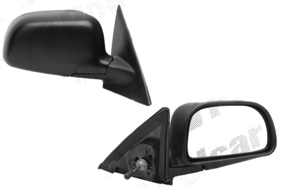 Oglinda exterioara Mitsubishi Colt (Cjo), 09.1995-05.2004, Lancer (Cjo), 09.1995-09.2003, Lancer Sedan (Ck), 09.1997-03.2001, Dreapta, manuala, prin cablu, Fara incalzire, carcasa neagra, Convex, View Max
