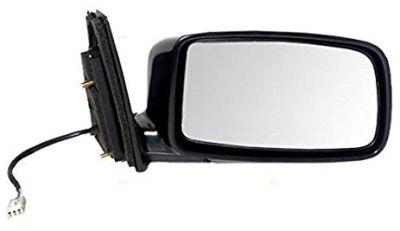 Oglinda exterioara Mitsubishi Lancer (Cs) 09.2003-08.2008 partea stanga View Max crom plana carcasa neagra reglare electrica fara incalzire, cu 3 pini