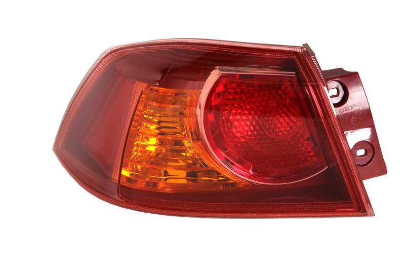 Stop spate lampa Mitsubishi Lancer (Cy0), 03.07-, Mitsubishi Lancer Evo X, 03.08-, spate, omologare ECE, fara suport bec, exterior, Stanga