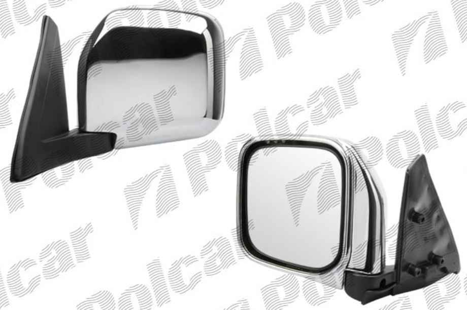 Oglinda exterioara Mitsubishi Pajero/Montero (V20) 01.1992-12.1995 partea stanga View Max crom convex carcasa cromata reglare manuala fara incalzire