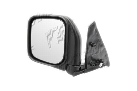 Oglinda exterioara Mitsubishi Pajero/Montero (V20), 01.1992-12.1995, Mitsubishi Pajero/Montero (V20), 01.1992-12.1995, partea Dreapta, culoare sticla crom, sticla convexa, cu carcasa neagra grunduita, cu incalzire, ajustare electrica