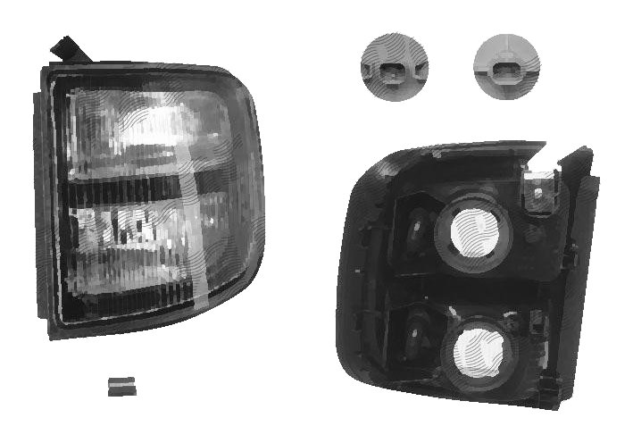 Lampa semnalizare fata cu pozitie Mitsubishi Pajero 01.1997-12.1999 partea dreapta