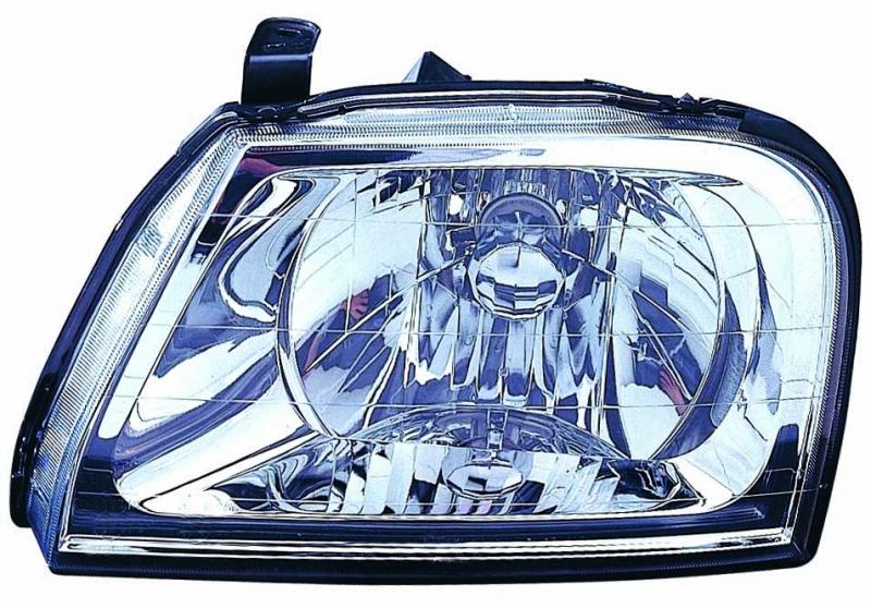 Far Mitsubishi L200 II 04.1998-10.2005 DEPO partea Stanga, tip bec H4, reglare manuala