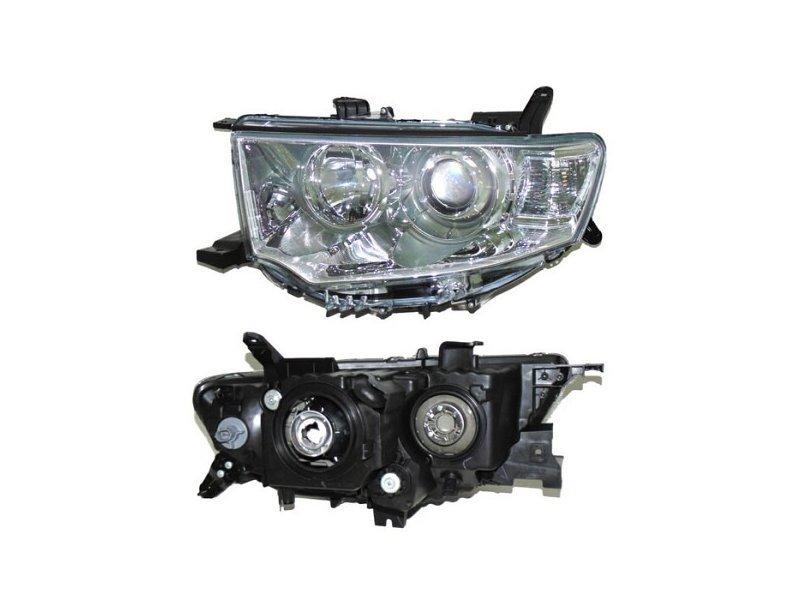 Far Mitsubishi L200/Triton 04.2010-, Mitsubishi Pajero Sport 2009-2015 DEPO partea Stanga, tip bec H11+HB3 manual/electric