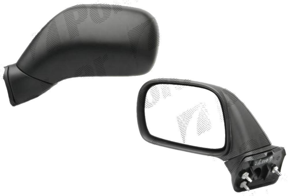 Oglinda exterioara Opel Agila (H00), 07.2000-01.2008, Suzuki Wagon R+ (Mm), 05.2000-, Dreapta, Crom, manuala, Fara incalzire, carcasa neagra, Convex, View Max