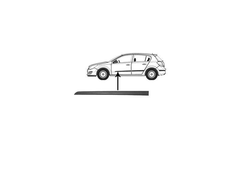 Bandou usa Opel Astra H 10.2003-12.2012 Usa Fata Stanga Negru 5172409, 4/5Usi/Combi, 1 buc.