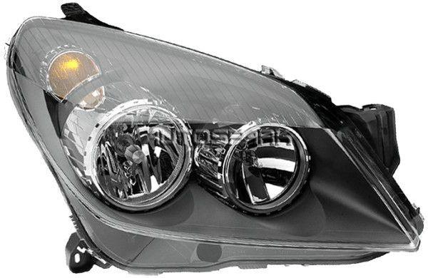 Far Opel ASTRA H 10.2003-12.2012 partea Dreapta, tip bec H1+H7 cu motoras, culoare rama negru